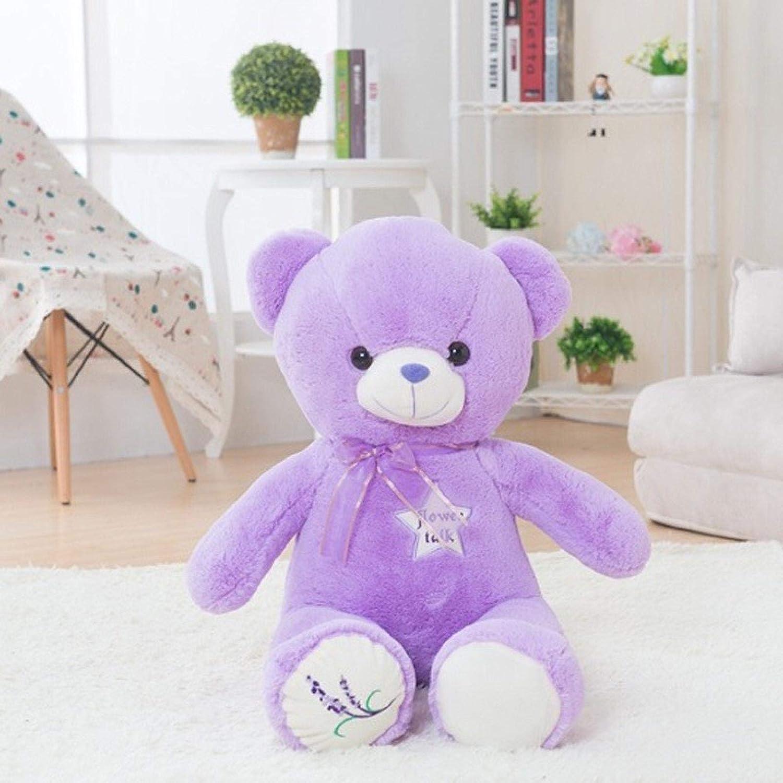 Plush Toys Stuffed Under blast sales 35 45 Lavender 60cm Pl Bear Some reservation Purple