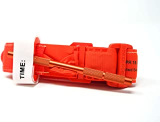 Recon Medical ORNGTQTourniquet -(Orange) Gen 3 Mil-Spec Kevlar Metal Windlass Aluminum First Aid Tactical Swat Medic Pre-Hospital Life Saving Hemorrhage Control Registration Card 1 Pack