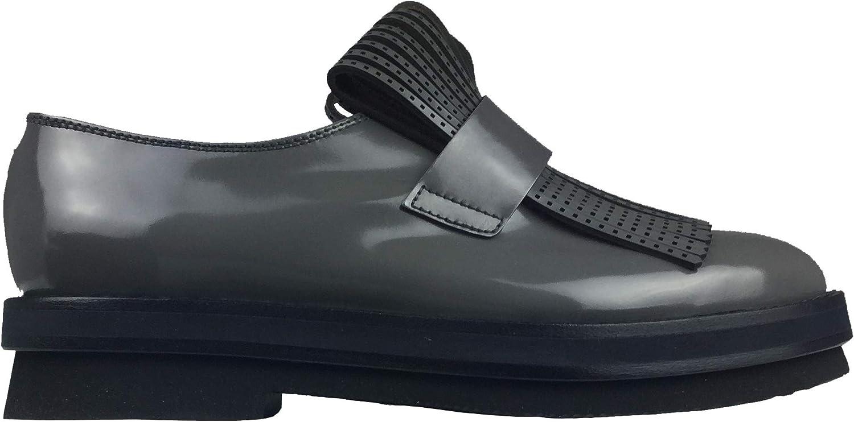 AGL Damen Schuhe College Loafer Ematite grau Laschen 762706 762706  modisch