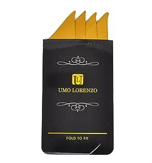 Men's Pre-Folded Solid Color Silk Pocket Squares Handkerchief Card