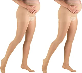 Truform Maternity 20-30 mmHg Sheer Pantyhose Beige, Small, 2 Count