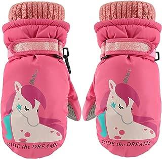 Kids Ski Mittens,Kids Gloves,Cute Unicorn Winter Snow...