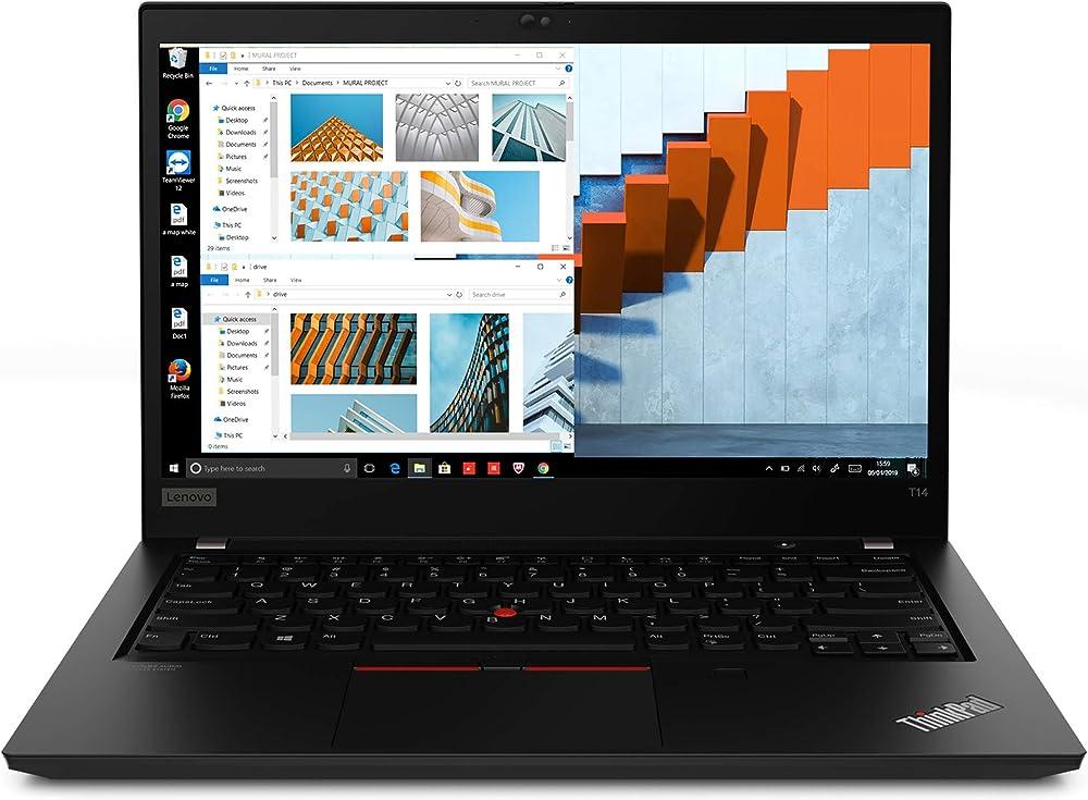 Lenovo thinkpad t14 notebook,  processore intel core i5-10210u, 512 gb ssd, ram 8 gb, windows 10 pro