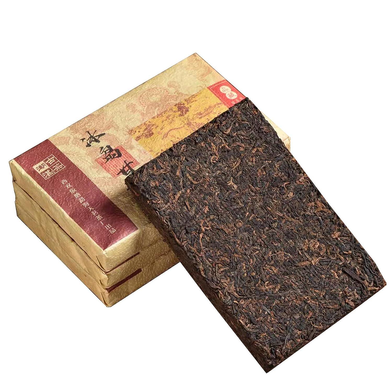Yunnan Menghai Pu'er tea bricks, fermented tea since 2018, organic black tea Pu'er ripe tea, traditional Pu'er tea packaging 250g