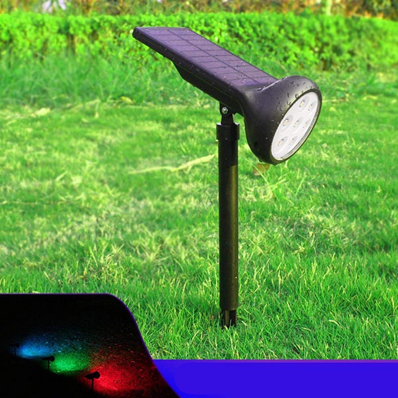 4 x 7 LEDs, wasserdicht, 7 RGB+W Wechsel, solarbetrieben, Hof, Rasenlampe, Solarstrahler, Auenbereich, Hof, Garten, Landschaftsbeleuchtung
