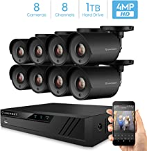 Amcrest UltraHD 4MP 8CH Home Security Camera System with 8 x 4-Megapixel Weatherproof Outdoor Security Cameras, 4MP DVR w/Pre-Installed 1TB Hard Drive, Night Vision, BNC Cables (AMDV40M8-8B-B)