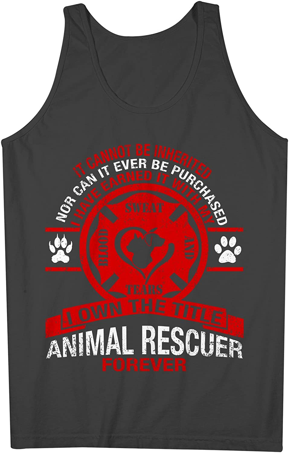 Animal Rescuer Forever 男性用 Tank Top Sleeveless Shirt