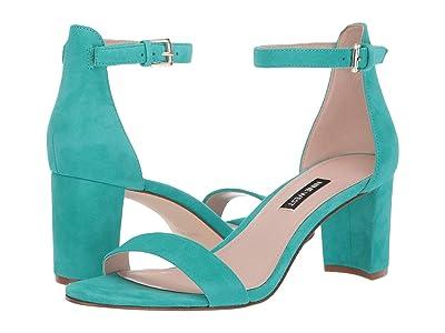 Nine West Pruce Block Heeled Sandal (Green) Women