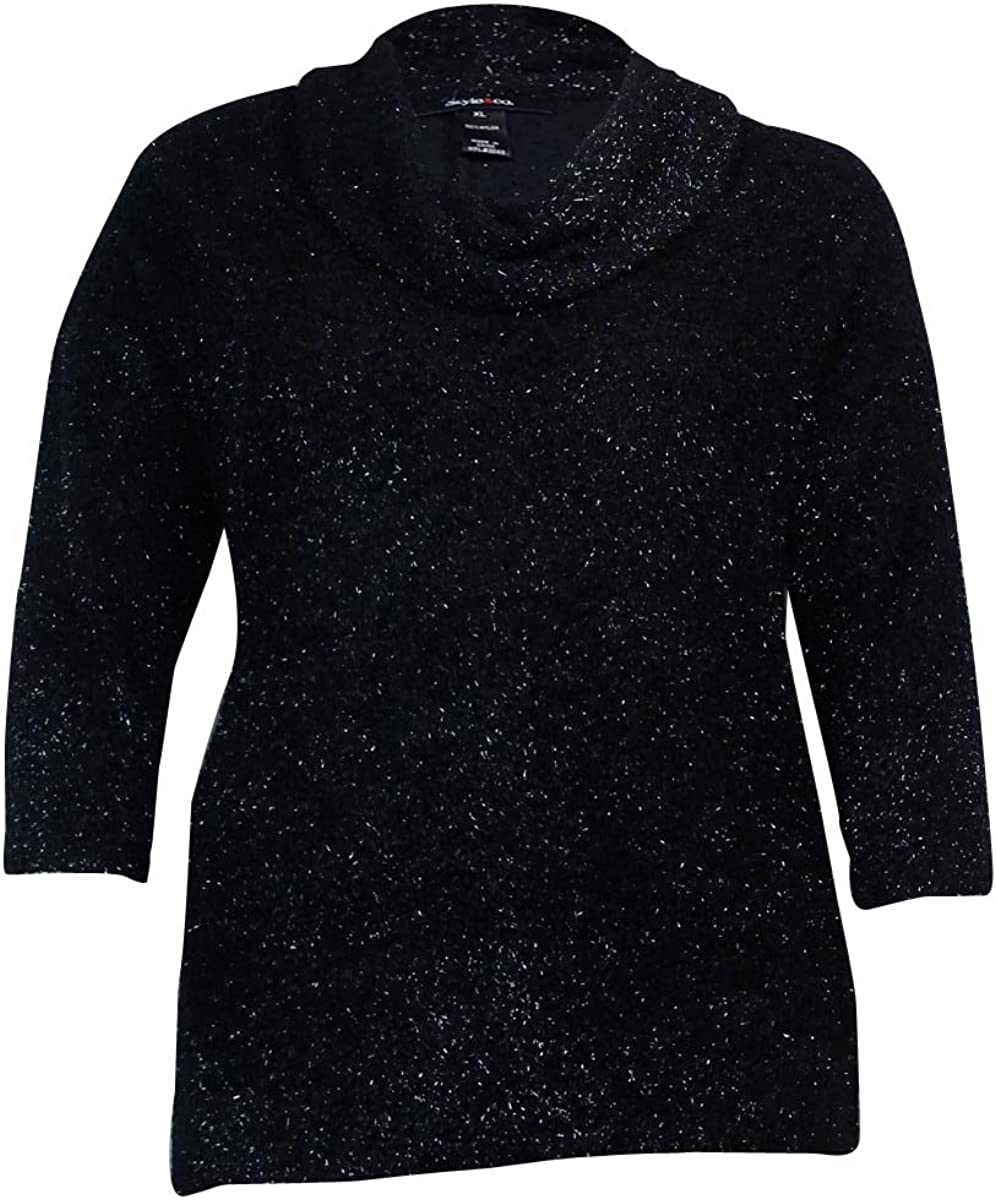 Style & Co. Women's 3/4 Sleeves Cowl Eyelash Sweater