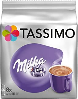 Tassimo Milka Bebida Chocolate Caliente Cápsulas - 5 Paquetes (40 Porciones)