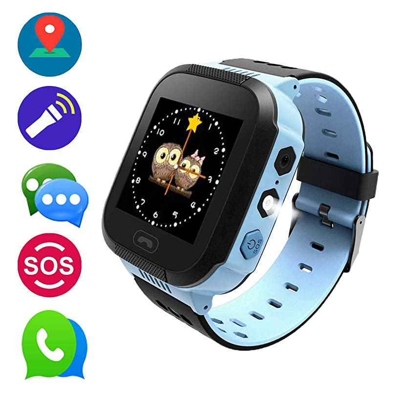 Kids Watches, Smart Watches for Boys, Children Wrist Watches with Intelligence Game, SOS Emergency Alarm, Voice Chat & Messages, The Best Birthday Gifts Ever(Blue)