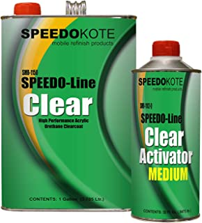 Speedokote Clear Coat 2K Acrylic Urethane, SMR-1150/1102-Q 4:1 Gallon Clearcoat Medium Kit