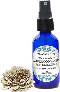 Natural Perfume - Sandalwood & Vanilla Spray - Essential Oil Perfumes - Natural Perfume - Sandalwood Perfume for Women - Sandalwood Cologne for Men - Sandalwood Perfume Spray - Personal Fragrance