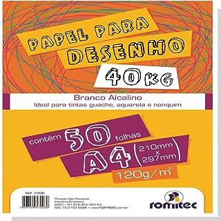 Papel Multiuso 120gr, Romitec, Use Paper 40kg, 7206R, Tamanho A4, Branco, 50 Folhas