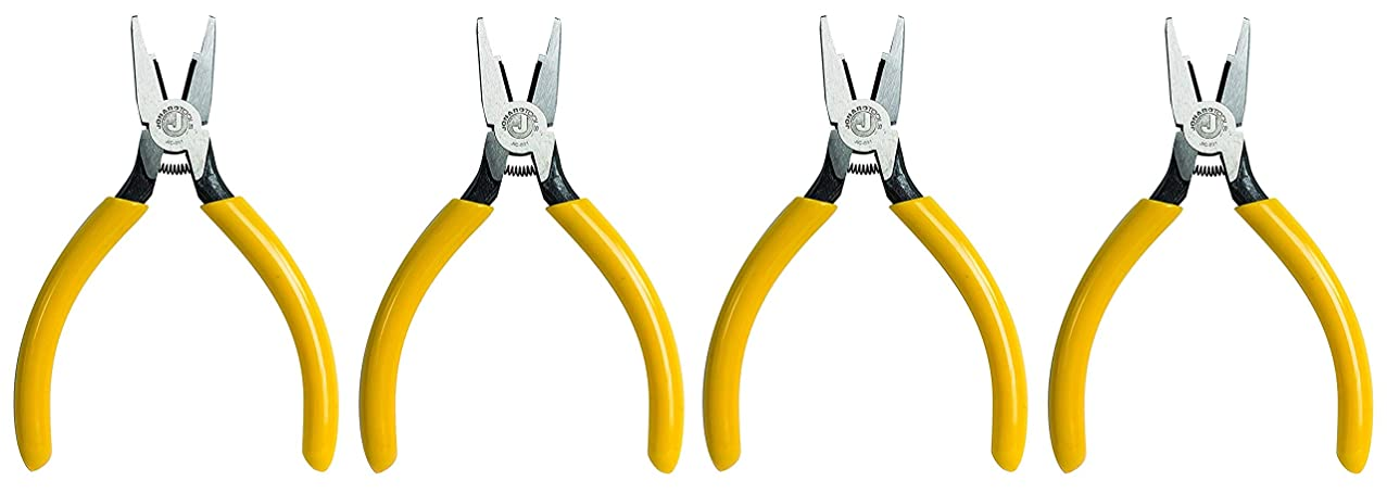Jonard JIC-891 Connector Crimping Plier with Side Cutter, 5-13/16