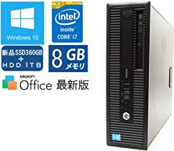 爆速SSD 360GB ✚ HDD 1TB【Win10 Pro搭載】 HP ProDesk 600 G1(SFF) ■ Core i7-4790/メモリ 8GB/DVDスーパーマルチ マウス・キーボード付属【Office 中古パソコン