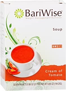 BariWise High Protein Low-Carb Diet Soup Mix - Low Calorie, Cream of Tomato (7 Count)