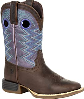 Durango Lil' Rebel Pro Big Kid's Blue Western Boot