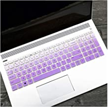 15 Inch Silicone Keyboard Film Cover Skin Protector Compatible for HP Pavilion Envy X360 15 BP103TX 106 003 006TX 15.6 15,Gradualpurple