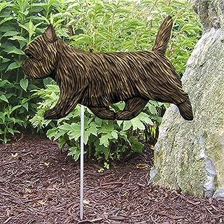 Ky & Co YesKela Cairn Terrier Outdoor Garden Dog Sign Hand Painted Figure Black Brindle