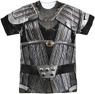 Chucklehead Toy Store Star Trek Men's Klingon Uniform Sublimation T-Shirt White