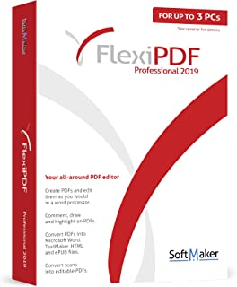 FlexiPDF Professional - OCR PDF Editing Software - 3 USER for your Windows 10, 8.1, 7 PC - the ultimate PDF editor software by SoftMaker
