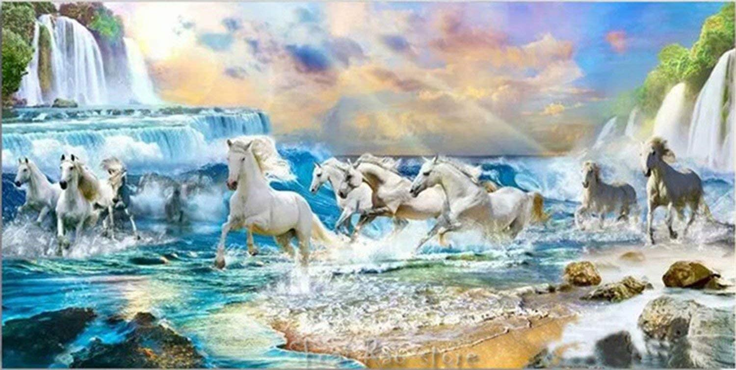 Mstoio Puzzles for Adults 2000 Puzzle Educ Alternative gift dealer Horse Waterfall Piece