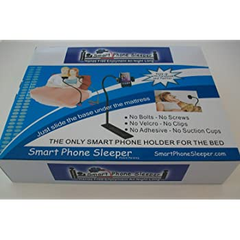 Smart Phone Sleeper Hands Free Smartphone Holder, Bedside Cradle Stand for All Apple iPhones, Samsung LG and All Phones
