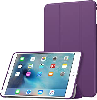 MoKo Case Fit iPad Mini 4 - Slim Lightweight Smart Shell Stand Cover Case with Auto Wake/Sleep Fit Apple iPad Mini 4 (2015 Edition) 7.9 inch iOS Tablet, Purple