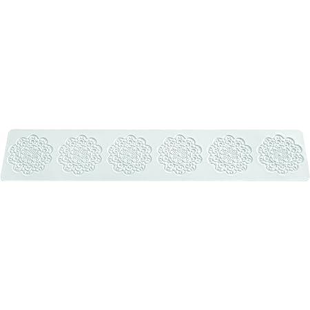 Wonder Cakes by Silikomart 23.081.87.0069 Tapis en Silicone pour Dentelles en Sucre en Forme de Marguerite, Blanc, 0,5 x 9 x 42 cm