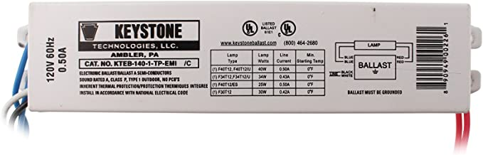 KTEB-140-1-TP-EMI 1 Lamp F40T12 Electronic Ballast 120 Volt