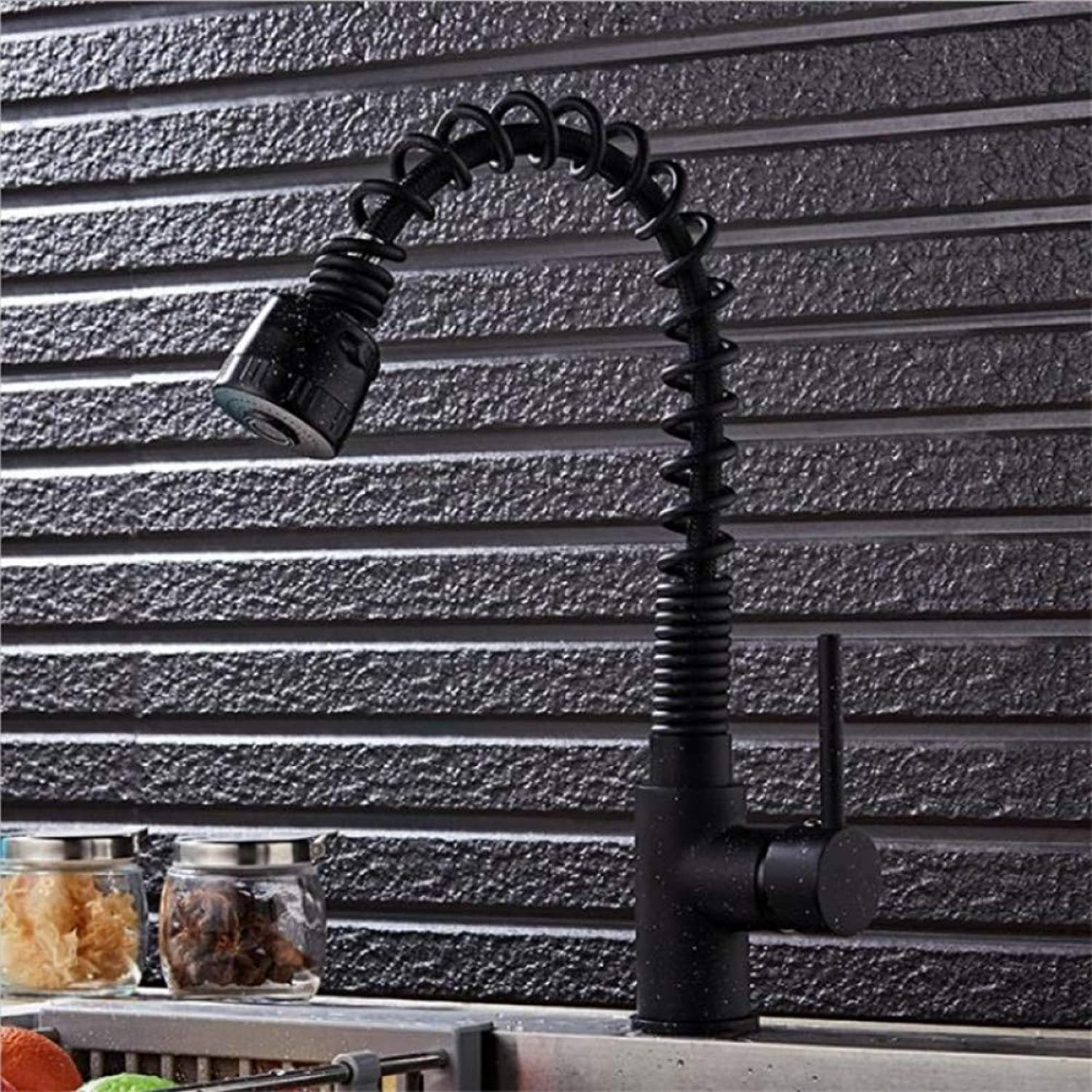 YHSGY Kitchen Taps Kitchen Pull Faucet Spring Sink Wash Basin Hot and Cold Faucet Tap Single Handle