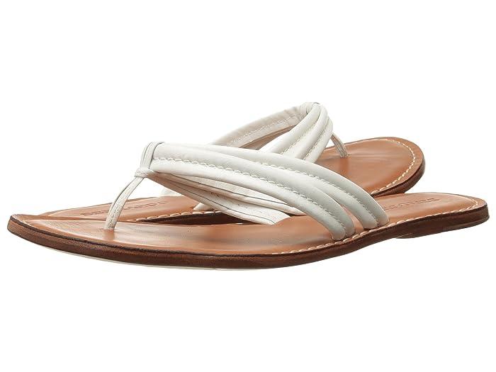 Bernardo  Miami Sandal (White Calf/Luggage Calf) Womens Sandals