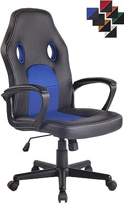 Blau /& Schwarz 114cm X 47cm X 48cm Neo /® Schwenkbar PU Leder Grillmatte B/üro Rennen Gaming Stil Computer Schreibtisch Sessel