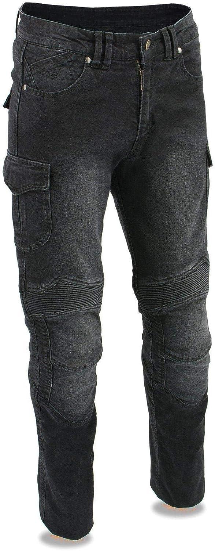 Milwaukee Weekly update Leather MDM5011 Men's Black Cut Armored Straight Denim Spasm price