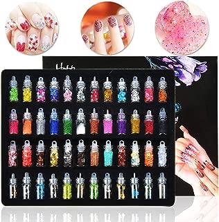 48 Bottles Nail Art Decoration Slime Supplies Kit 3D Nail Art Glitter Powder Confetti DIY Design Accessories by Happlee