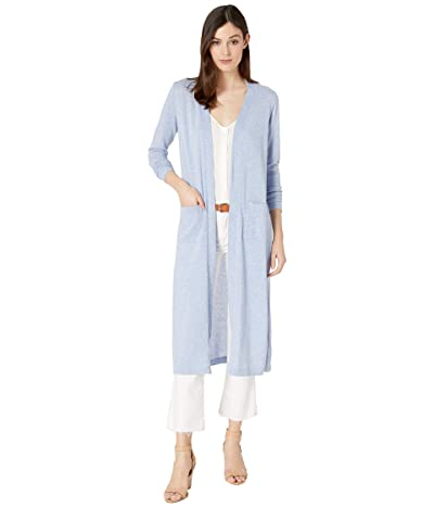 Mod-o-doc Heathered Sweater Duster Cardigan with Patch Pockets (Peri) Women