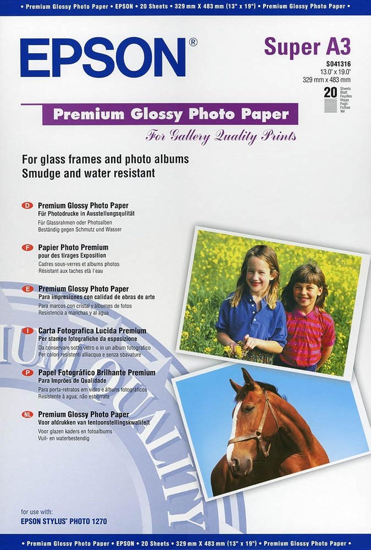 Epson Premium Glossy Fotopapier S041316   DIN A3     250 g m² hochglänzend B00NCZ1W9I | Primäre Qualität  7a2263
