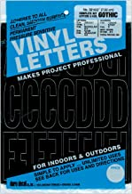 Duro 401308 Permanent Adhesive Vinyl Letters Numbers 3 in. -Gothic-Black