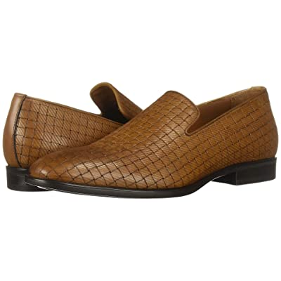 Aquatalia Aiden (Cognac Embossed Calf) Men