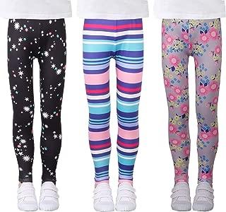 Girls Stretch Leggings Tights Kids Pants Plain Full Length Children Trousers