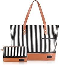Laptop Tote Bag for Women large Canvas Shoulder Bag Waterproof Fashion Handbags Work Tote Bag Fits 15.6 inch Laptop, Gift ...