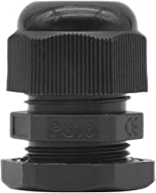 Lantee PG 16 Cable Gland - 20 Pieces Black Plastic Nylon Waterproof Wire Glands Connector Fitting