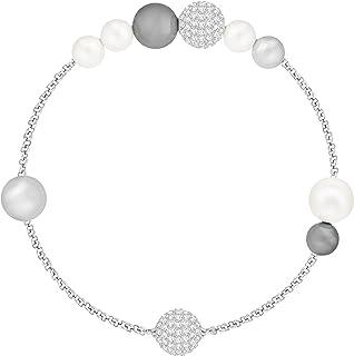 Swarovski Women's Gray Rhodium plated Remix Collection Pearl Strand 5365739