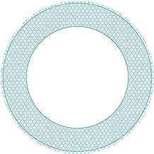 أطباق عشاء ورقية من كاسباري كاليكو، باللون الأزرق، عبوة من 8 قطع