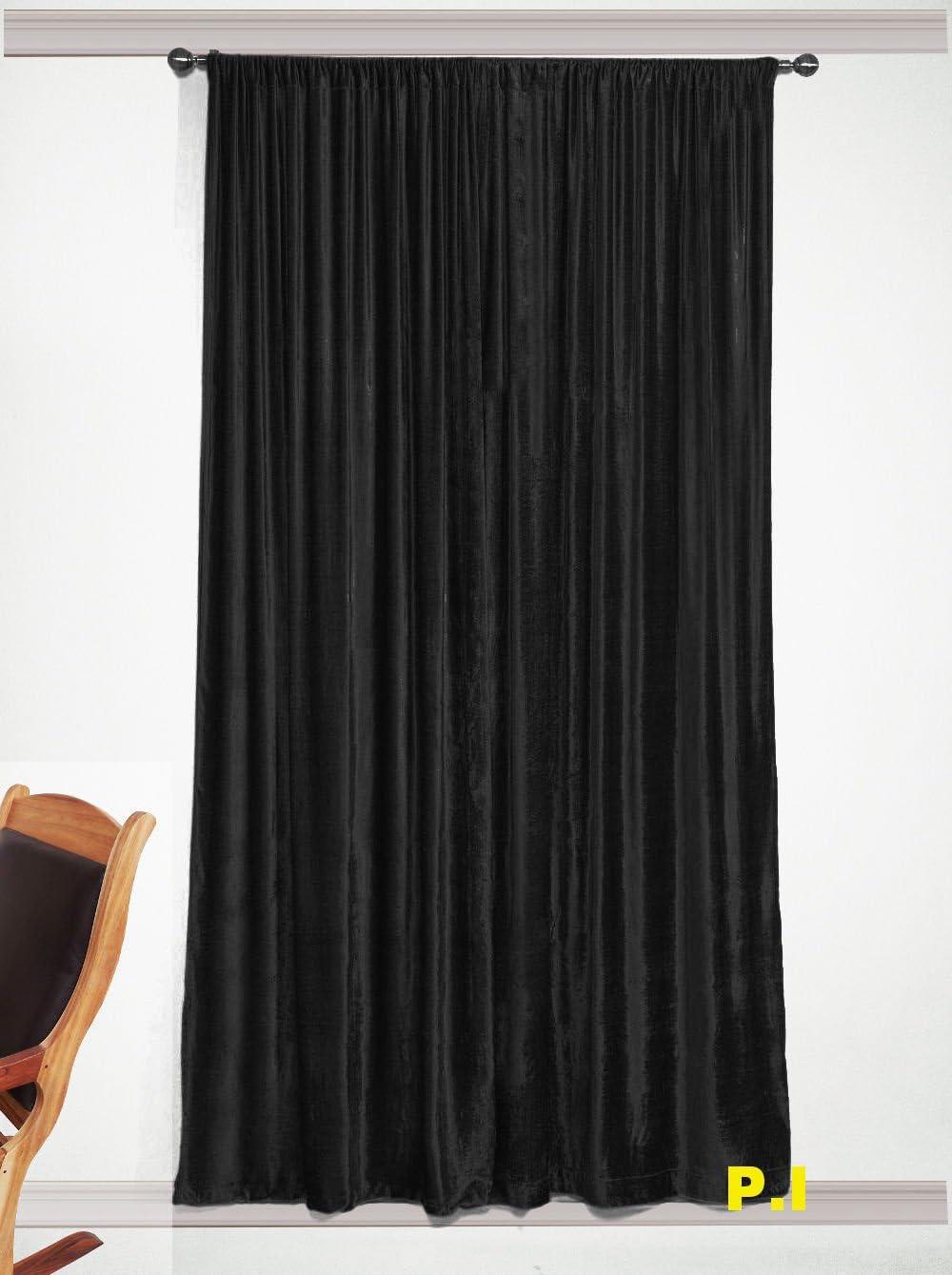 推奨 beddingndecor Black Velvet Room 期間限定特価品 Curtain Darkening
