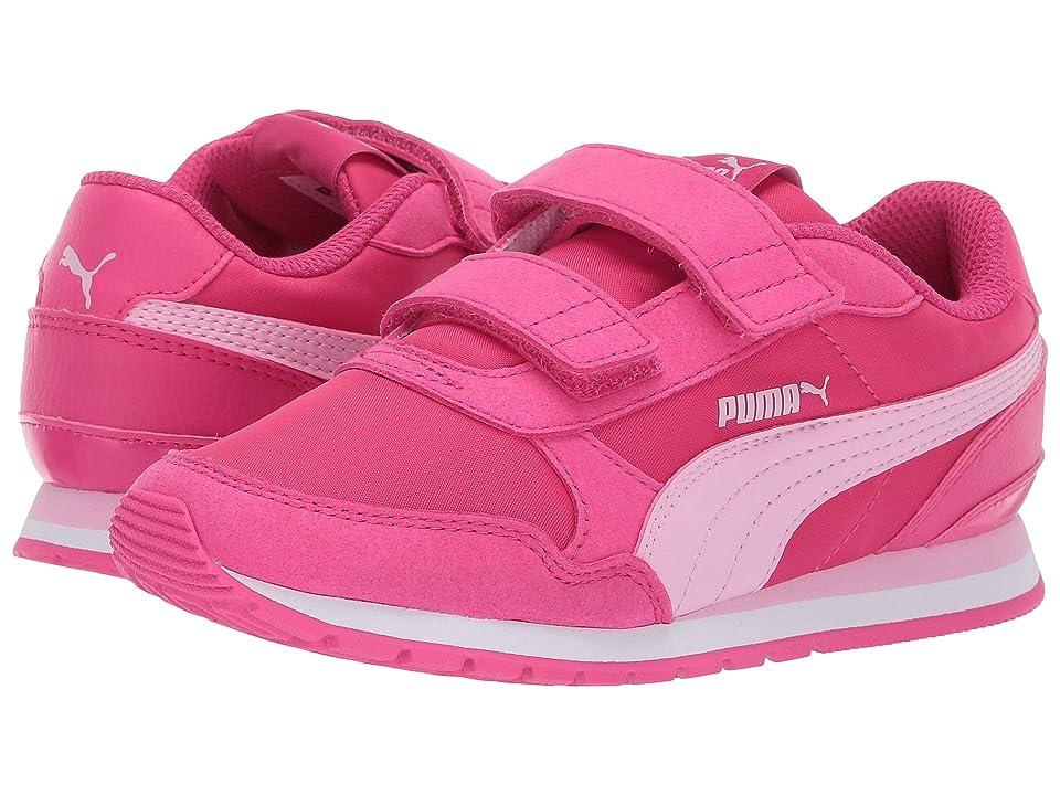 Puma Kids ST Runner Velcro (Little Kid) (Fuchsia Purple/Pale Pink/Puma White) Girl