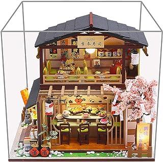 Casa Delle Bambole Ristorante Sushi In Stile Giapponese Fai-da-te, Kit Artigianale Casa Delle Bambole In Miniatura Con Mob...