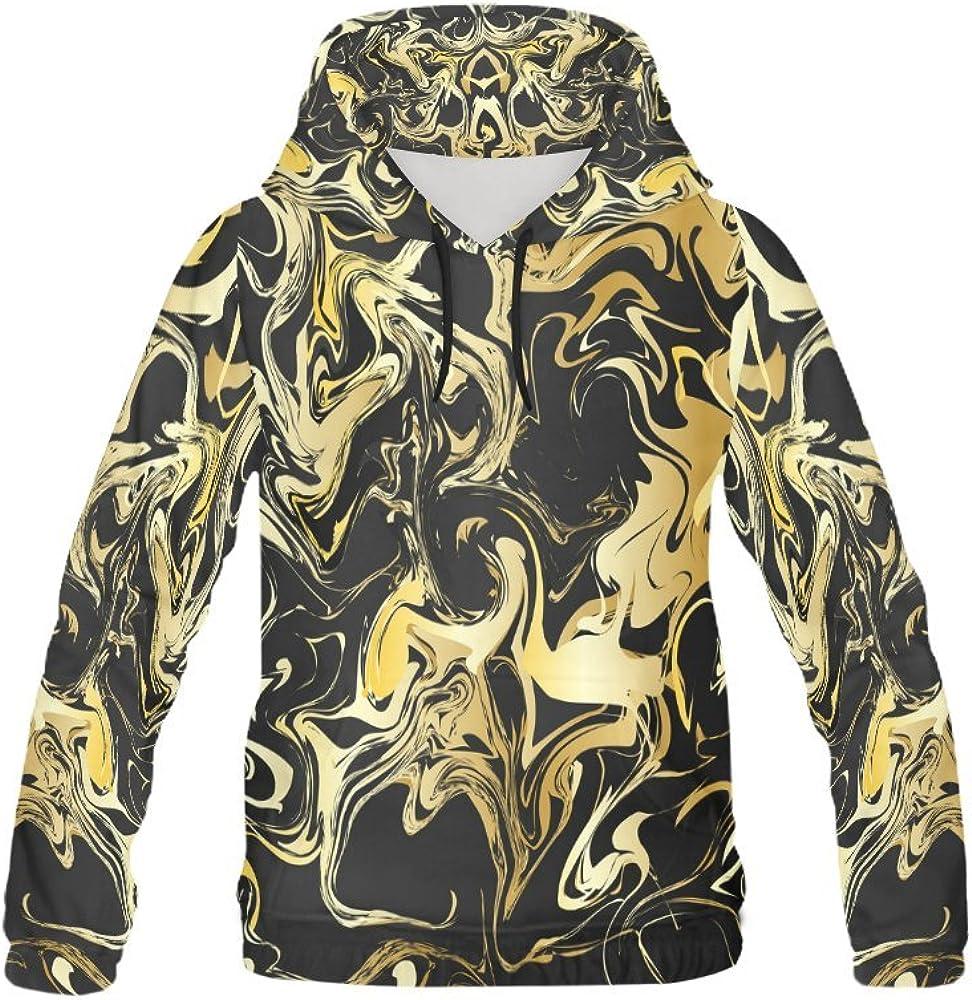 InterestPrint Geometric Pattern All Over Print Hoodie Sweatshirt for Men