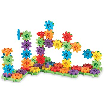 Learning Resources Gears! Gears! Gears! 100-Piece Deluxe Building Set, STEM Construction Toy Set, 100 Pieces, Ages 3+